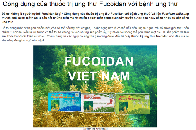 Thực hư công dụng thần dược fucoidan trị ung thư - 1