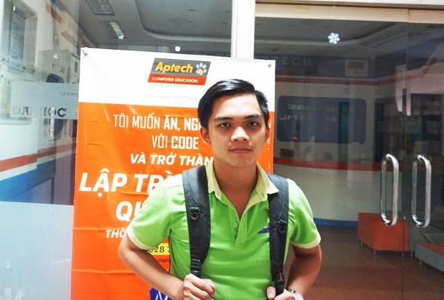 Nguyễn Minh Duy, sinh viên năm cuối Aptech và Đại học KHTN.
