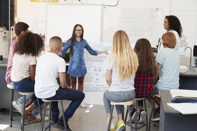 Các dự án nhóm giúp học viên phát triển nhiều kĩ năng mềm.