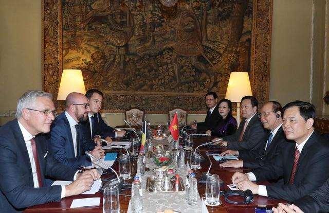 Thủ tướng Bỉ Charles Michel hội đàm với Thủ tướng Nguyễn Xuân Phúc