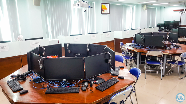 Phòng Nghiên cứu kinh doanh thông minh (BI Lab) tại UEL phục vụ đào tạo Thương mại điện tử.