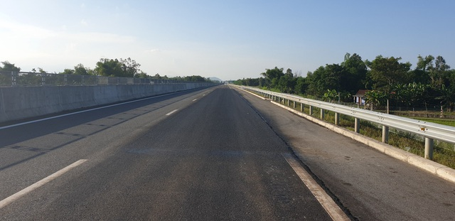 Cao tốc Đà Nẵng - Quảng Ngãi đã sửa chữa xong các vị trí mặt đường bị hư hỏng