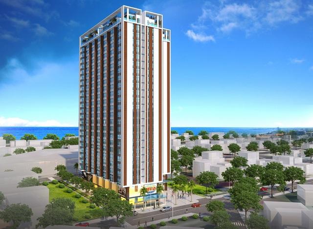 Phối cảnh tổng thể dự án HUD Building Nha Trang. Đơn vị phân phối chính thức: Mozaland Nha trang – Hotline: 0964.313.808 Website: http://hudbuilding.com.vn/