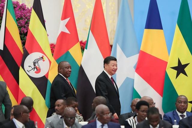 Tổng thống Nam Phi Cyril Ramaphosa và Chủ tịch Tập Cận Bình dự diễn đàn hợp tác Trung Quốc - châu Phi tại Bắc Kinh. (Ảnh: NYT)