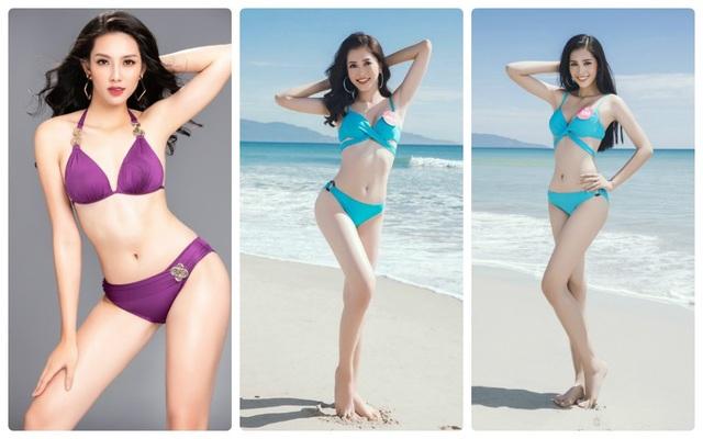 3 người đẹp của Hoa hậu Việt Nam tham gia 3 đấu trường nhan sắc lớn.