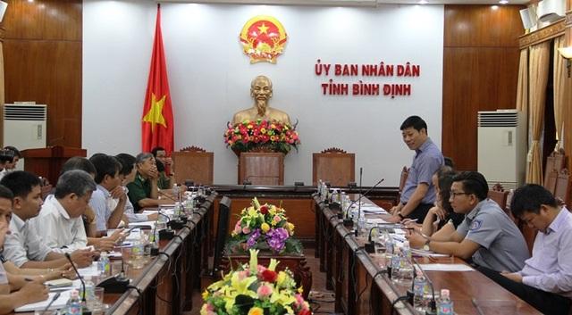 """Ðoàn công tác của Bộ NN&PTNT đã làm việc với UBND tỉnh Bình Định về việc thực hiện một số nhiệm vụ cấp bách nhằm tháo gỡ """"thẻ vàng"""" cho thủy sản Việt Nam và chuẩn bị kế hoạch làm việc với Ðoàn Ủy ban nghề cá Nghị viện châu Âu - dự kiến đến Bình Ðịnh ngày 31/10."""