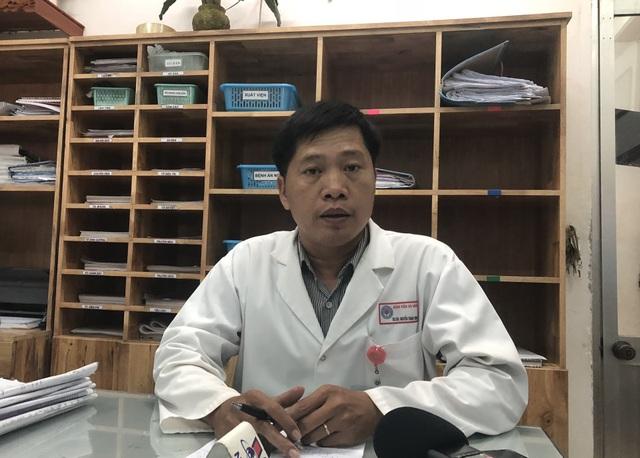 BS.CK II Nguyễn Thành Trung - Phó Giám đốc Bệnh viện đa khoa Đà Nẵng thông tin tình hình sức khoẻ bệnh nhân liên quan vụ nổ tàu cá ở Lý Sơn