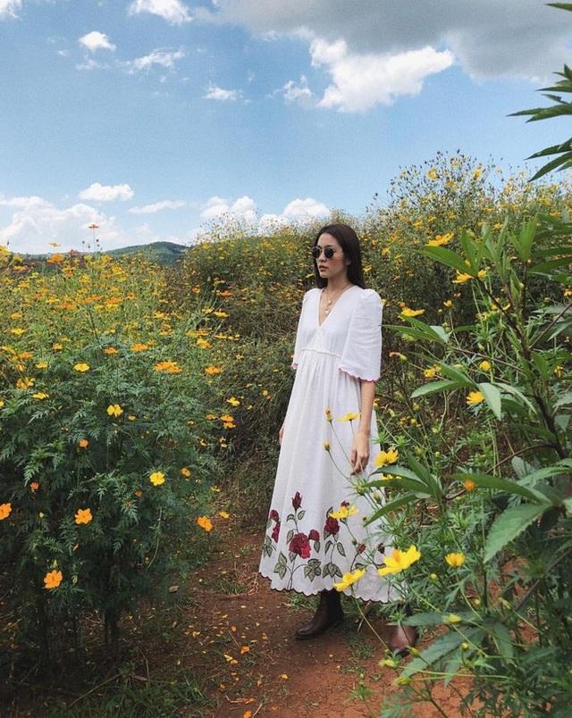 Thời điểm lý tưởng nhất để chụp ảnh hoa dã quỳ là 9 - 10h sáng hoặc khoảng 3 - 5h chiều, khi nắng vừa lên, hoa có màu vàng ươm Những dải vàng hoa dã quỳ nối tiếp bạt ngàn níu chân người lữ khách.