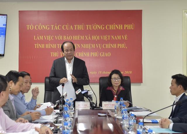 Bộ trưởng Mai Tiến Dũng chủ trì cuộc kiểm tra tại Bảo hiểm Xã hội Việt Nam