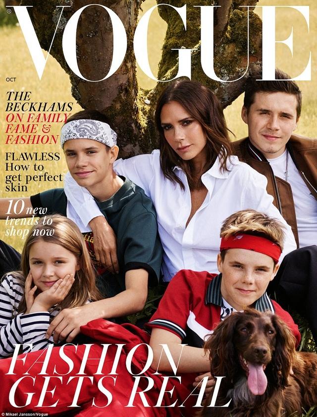 Victoria Beckham và các con trên trang bìa Vogue (Anh)