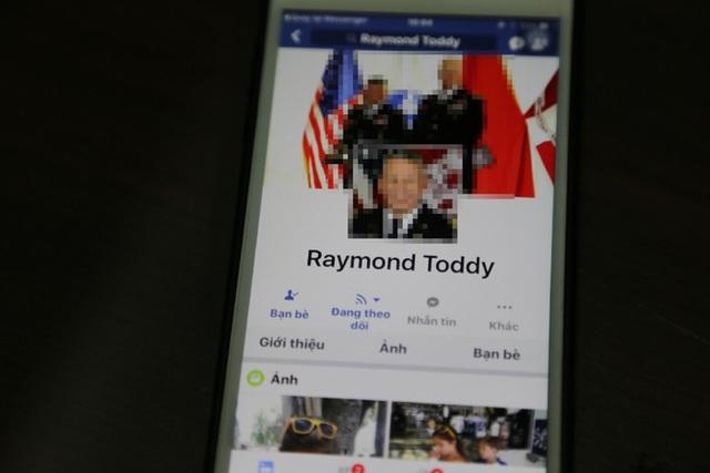 Tài khoản Facebook giả mạo của đối tượng lừa đảo gười nước ngoài