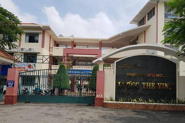 Trường tiểu học Lương Thế Vinh, Gò Vấp, TPHCM - nơi xảy ra sự việc thầy giáo tát, đá học trò