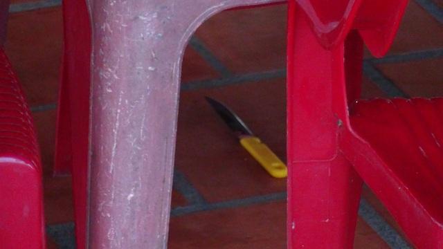 Con dao hung thủ bỏ lại hiện trường.