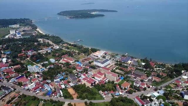 Sihanoukville nhìn từ trên cao (Ảnh: Media Corp)