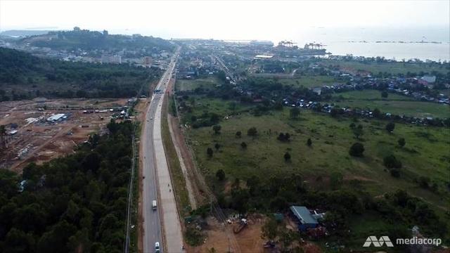 Đường cao tốc nối thủ đô của Campuchia. (Ảnh: Media Corp)