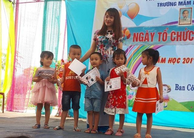 Cô giáo trẻ Hà Thị Yên đã có gần 5 năm gắn bó với nghề.