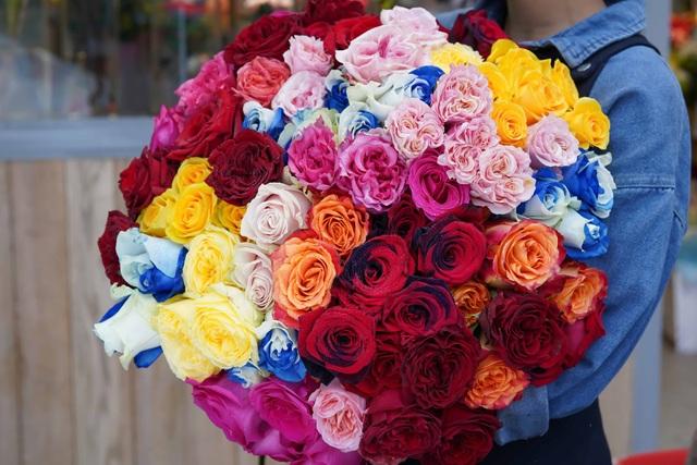 Nhưng bông hồng Ecuador nhiều màu sắc độc đáo