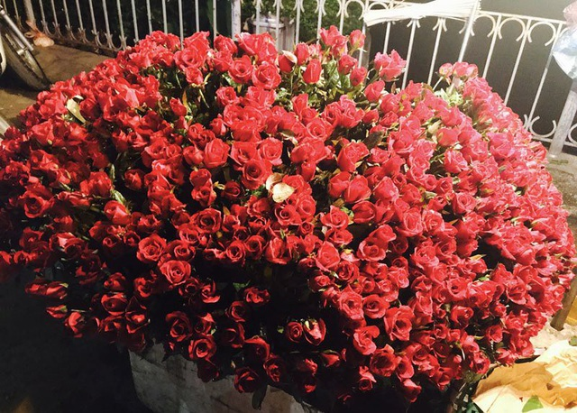 Hoa hồng tăng giá gấp 2-3 lần giá ngày thường