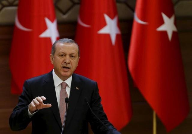 Tổng thống Thổ Nhĩ Kỳ Recep Tayyip Erdogan (Ảnh: Reuters)