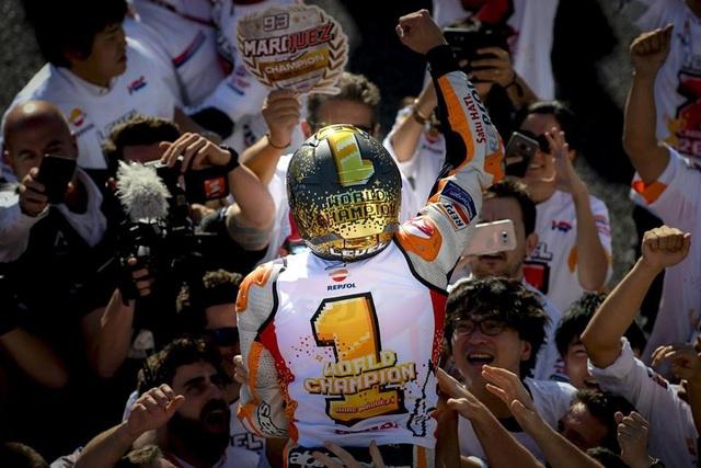 Chiến thắng tại Motegi, Marquez đăng quang ngôi vô địch thế giới MotoGP - 1