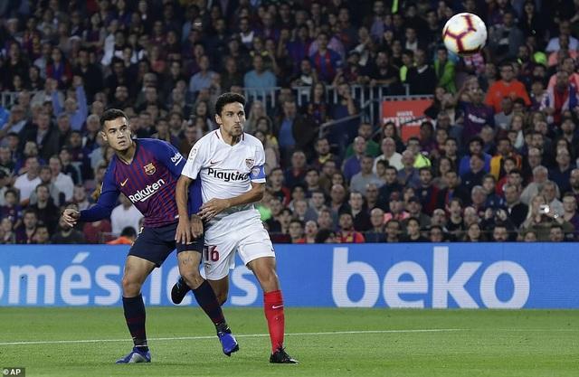 Barcelona trở lại ngôi đầu bảng La Liga sau chiến thắng trước Sevilla