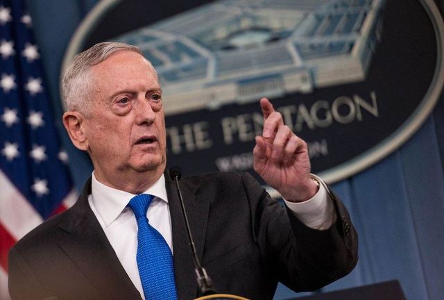 Bộ trưởng Quốc phòng Mỹ Mattis (Ảnh: Star & Stripes)