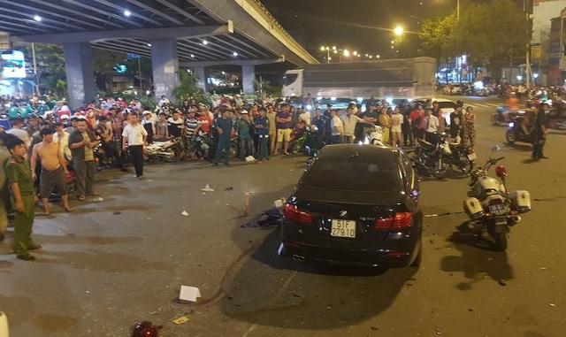 Chiếc ô tô gây tai nạn