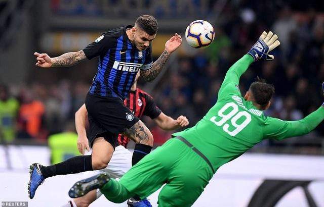 Ircadi ghi bàn duy nhất giúp Inter đánh bại AC Milan ở Serie A hồi cuối tuần