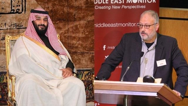 Thái tử Mohammad bin Salman và nhà báo Khashoggi. (Ảnh: RT)