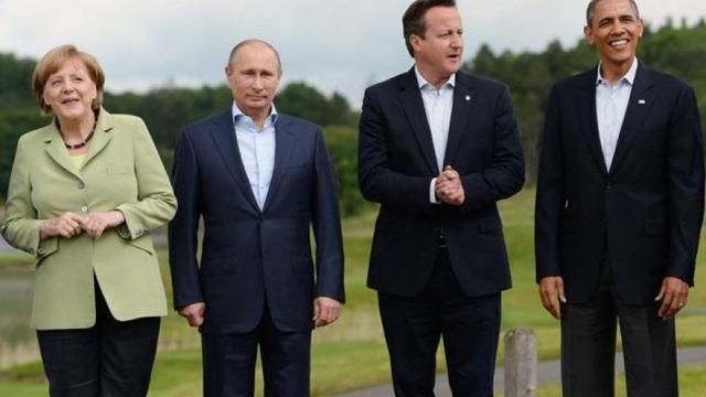 Tổng thống Putin (thứ hai từ trái sang) dự hội nghị thượng đỉnh G8 năm 2013. (Ảnh: Reuters)