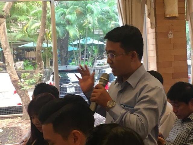 Đại diện Tổng công ty Xây dựng số 1 phát biểu tại Hội thảo. Ảnh: Võ Anh Tuấn