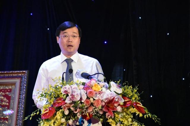 Bí thư thứ nhất Trung ương Đoàn TNCS HCM, Chủ tịch Hội Sinh viên Việt Nam Lê Quốc Phong phát biểu tại Đại hội (Ảnh: Vương Đức)
