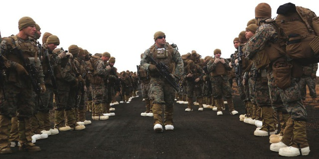 Khoảng 50.000 binh sĩ sẽ tham gia cuộc tập trận của NATO, trong đó có 14.000 binh sĩ Mỹ. (Ảnh: Thủy quân lục chiến Mỹ)