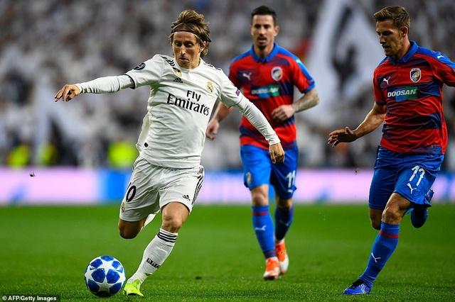 Modric giúp Real Madrid kiểm soát tốt khu vực giữa sân