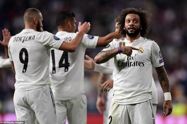 Marcelo nâng tỷ số lên 2-0 cho Real Madrid ở phút 55