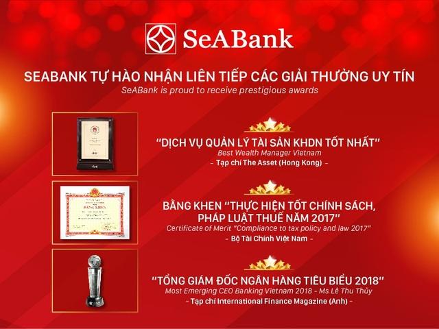 SeABank tự hào nhận liên tiếp các giải thưởng uy tín - 1