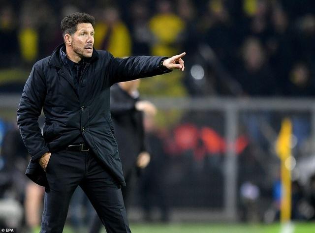 Nỗi thất vọng của HLV Diego Simeone sau thất bại tại nước Đức