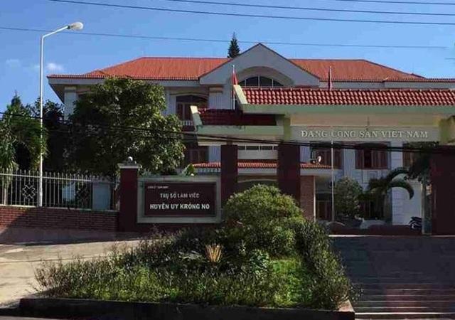Trụ sở làm việc của huyện ủy Krông Nô nơi ông Thập công tác