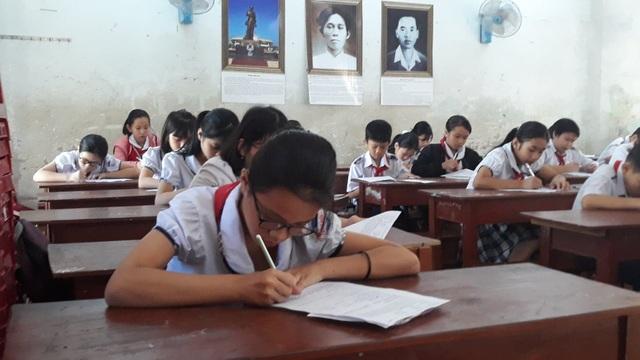 Bắt đầu từ năm học 2018 - 2019, học sinh THCS của TP. Quảng Ngãi làm bài kiểm tra 1 tiết bằng đề chung.