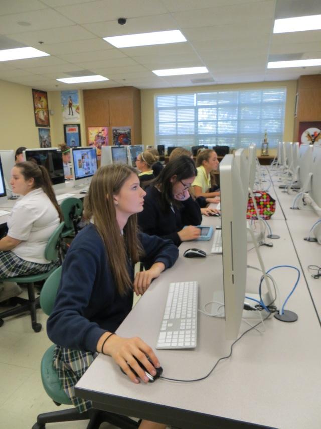 Lớp học được trang bị hiện đại