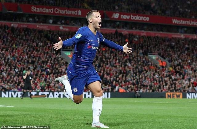 Hazard vẫn chơi cống hiến trong màu áo Chelsea dù anh muốn đến Real Madrid