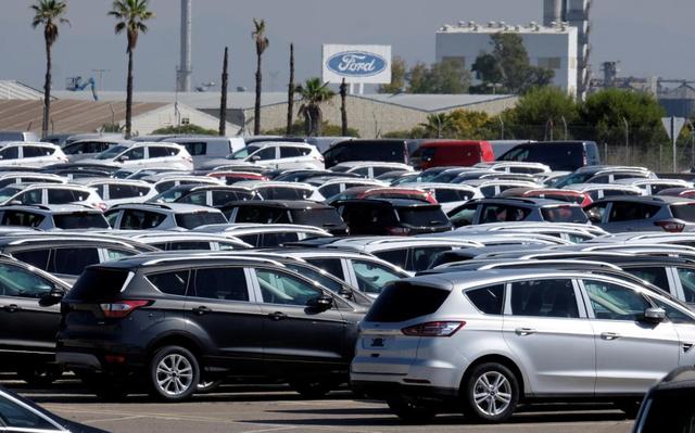 Bãi xe mới ở bên ngoài nhà máy của Ford ở Almussafes, gần Valencia, Tây Ban Nha hôm 15/6/2018. Ảnh: Reuters