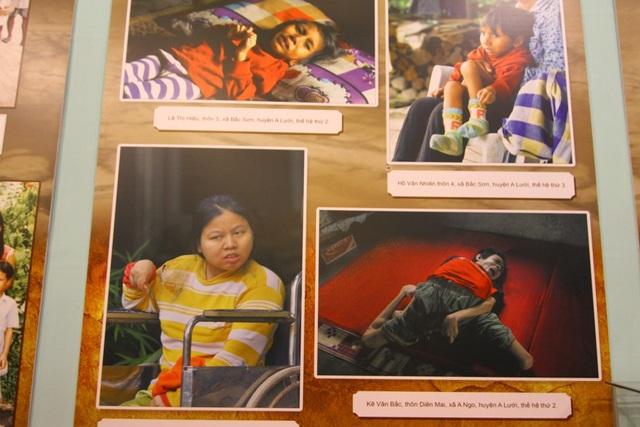 Chất độc da cam đioxin đã làm cho 4,8 triệu người dân Việt Nam bị phơi nhiễm trực tiếp trong khoảng thời gian chiến tranh, trong đó có hơn 3 triệu người là nạn nhân, nhiều nạn nhân là trẻ em thế hệ thứ 2, thứ 3. Rất nhiều gia đình có 3 nạn nhân trở lên, có gia đình cả 15 người con đều là nạn nhân chất độc da cam