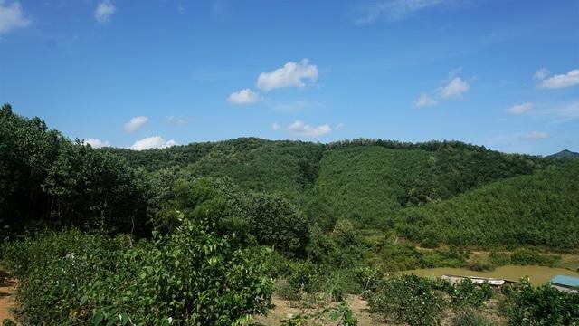 Khu đồi tại xóm Khăm dự kiến sẽ xây dựng dự án nghĩa trang.