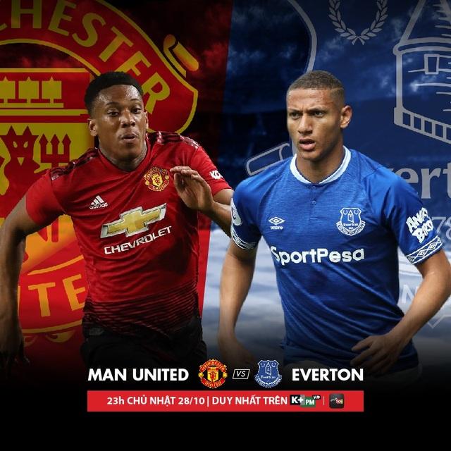 Liệu M.U có đứng vững trước một Everton đầy tham vọng? Đón xem trận đấu được phát sóng độc quyền vào lúc 23 giờ ngày 28/10 trên K+