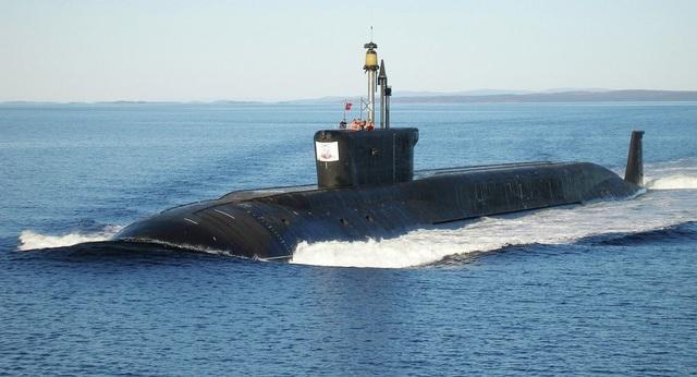 Tàu ngầm tên lửa đạn đạo hạt nhân lớp Borei. (Ảnh: Sputnik)