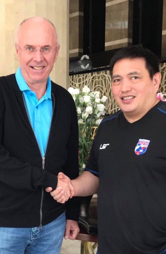 HLV Sven Goran Eriksson chính thức trở thành HLV trưởng đội tuyển Phillippines