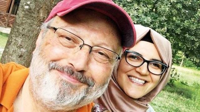 Bà Cengiz và ông Khashoggi đính hôn 4 tháng trước và dự định sẽ làm đám cưới trong tương lai gần (Ảnh: Aksam)