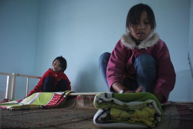 Các em học sinh ở nội trú.
