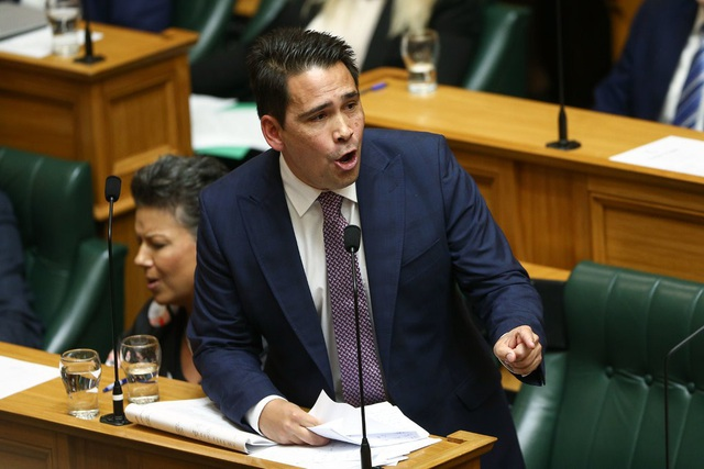 Lãnh đạo đảng Quốc gia New Zealand Simon Bridges. (Ảnh: NYT)